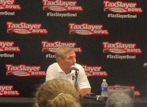 Iowa coach Kirk Ferentz answers questions after the Taxslayer Bowl.