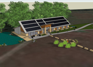 The new Indian Creek Nature Center building will get its power from solar energy.