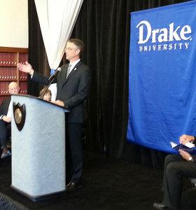 Drake president-elect Marty Martin.