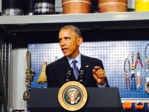 President Obama in Cedar Falls. Jan. 14, 2015
