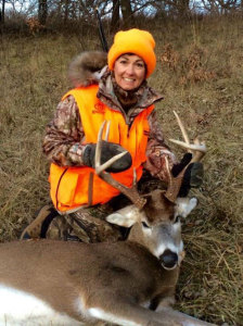Lt. Governor Kim Reynolds and her first deer.