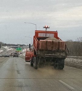 DOT truck treating the interstate.
