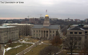 University of Iowa webcam view of the campus.