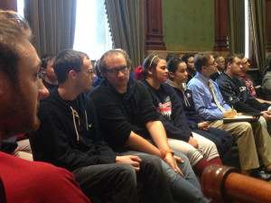 AIB students at the statehouse.
