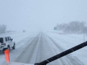 Iowa DOT plow camera photo on I-80 near Stuart Sunday afternoon.