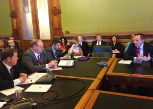 DOT Director Paul Trombino testifies about the  gas tax bill subcommittee meeting.