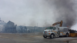 Firefighters were unable to save much of  Edgewood Auto and Tire.