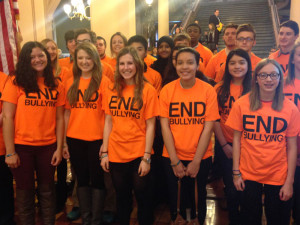 Students lobby for anti-bullying bill.