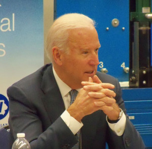 Vice President Joe Biden during an appearance earlier this year at DMACC.