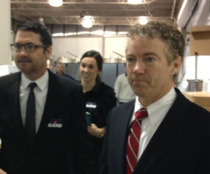 Rand Paul with consultant Steve Grubbs.