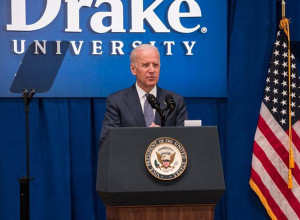 Vice President Joe Biden speaks at Drake University.