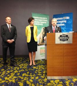 Jeff Weld, Lt. Governor Kim Reynolds and Governor Branstad. (L-R)