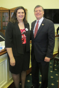 Carol Fischer and Oklahoma Congressman Tom Cole.