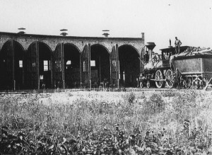 Photo of a train in the Fortepan project.