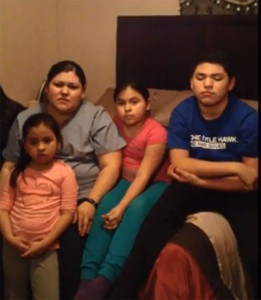 Gloria Villatoro and her children made a video plea to the president to let her husband stay in the U.S.