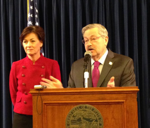 Governor Terry Branstad with Lt. Governor Reynolds.