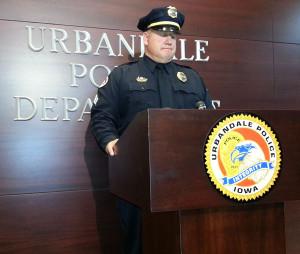 Urbandale police sergeant Gary Lang.