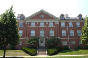 UNI photo of Lawther Hall.