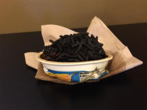 Bill Petroski of the DM Register tweeted this picture of the burned food.