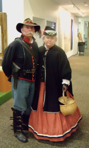 Roger and Carolyn Shannon at the opening of the Gold Star Museum Civil War exhibit.