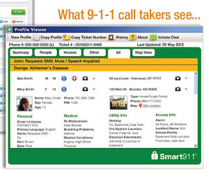 Promotional information on the Smart911 system.