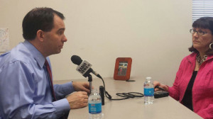Scott Walker talks with Radio Iowa's O. Kay Henderson.
