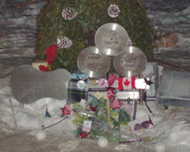 Memorial on the 50th anniversary at the crash site.