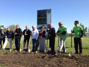 Groundbreaking for the Ankeny Pavillion.
