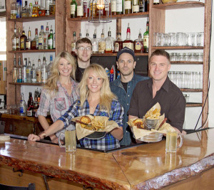 The Cider House staff: (from left) Hopi James, Skylar Messer, Annalisa Thompson, Cole Fishback, and Clint Stephenson.