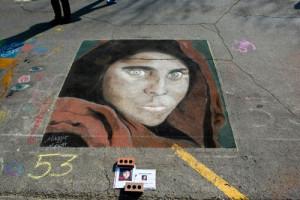 Maggie Lynott's 2014 chalk art.