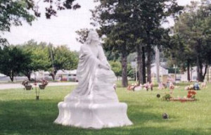 Photo of the Newton Memorial Cemetery from the Jasper County Genealogical Society web page.