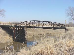 Bridge over Nishnabotna River in Crawford County. (Iowa DOT photo)