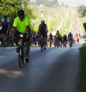 Riders on RAGBRAI.