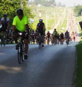 Riders on RAGBRAI.