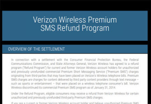 Verizon and Sprint have set up websites for cramming refunds.