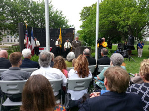Governor Terry Branstad was one of the speakers at the ceremony,
