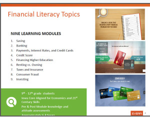 A variety of issues are being discussed at the financial literacy summit.