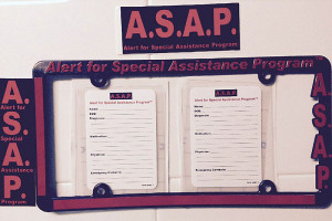Items created by the ASAP program to alert emergency responders.