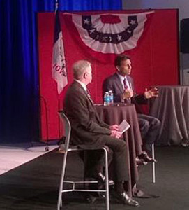 Bobby Jindal (right).