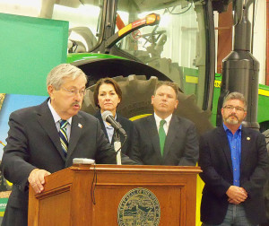 Governor Brandstad, Lt. Governor Reynolds, State Representatives Peter Cownie and Rob Taylor. (L-R)