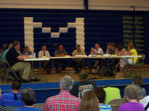 The MMC and Remsen-Union school boards discuss a sharing agreement.