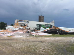 A storm leveled Nelly's Detail shop in Arlington Monday.