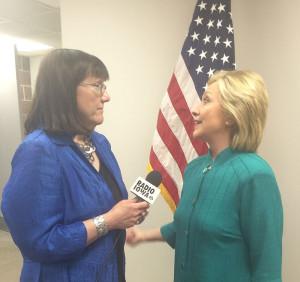 Radio Iowa's O.Kay Henderson interviews Hillary Clinton.