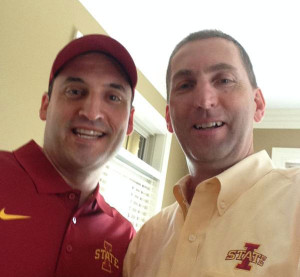 ISU Athletic Director Jamie Pollard (right) tweeted this picture with Steve Prohm.