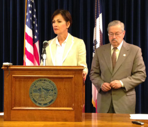 Lt. Governor Kim Reynolds and Governor Branstad.
