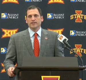 New Cyclone basketball coach, Steve Prohm.