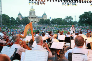 Thousands gather each year for the Yankee Doodle Pops event at the state capitol.