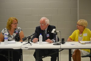 Bernie Sanders at the roundtable discussion.