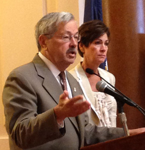 Governor Branstad and Lt. Governor Kim Reynolds.