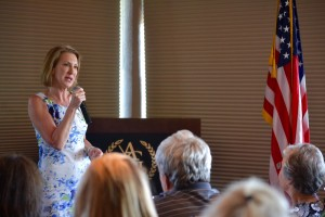 Carly Fiorina in Ames.